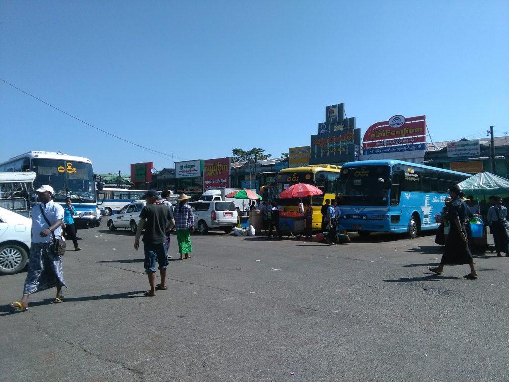 ヤンゴン市内からアウンミンガラーバスターミナルまでの行き方、戻り方は3つ!好きな手段を選んでね