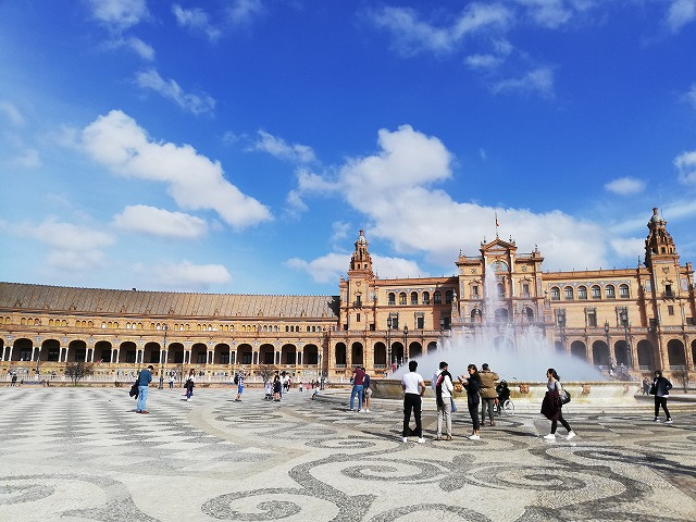 【スペインポルトガル旅】セビージャ、スペイン広場、再び。